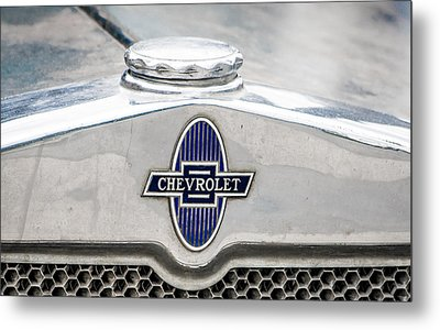 Vintage Chevy Logo Metal Print by Dawn Romine
