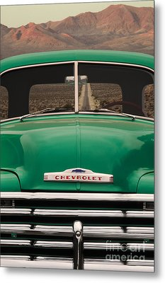 Vintage Chevy Truck Metal Print by Ron Sanford