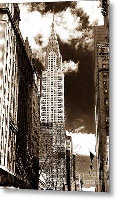 Vintage Chrysler Building Metal Print by John Rizzuto