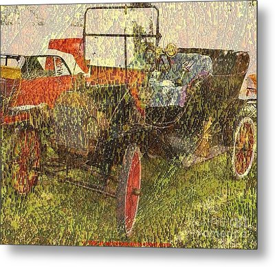 Vintage Classic Automobile Metal Print by PainterArtist FIN