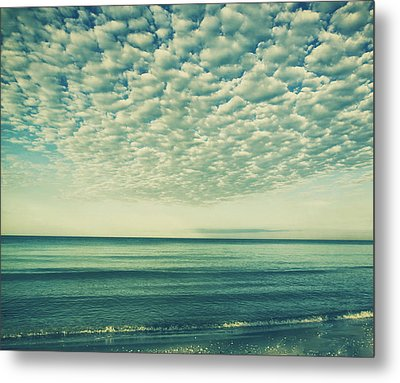 Vintage Clouds Metal Print by Kim Hojnacki