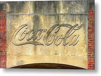 Vintage Coca Cola Bottling Plant Portal - Frederick Md Metal Print