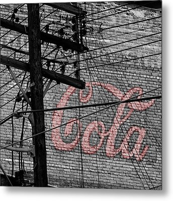 Vintage Coca Cola Sign 4b Metal Print by Andrew Fare