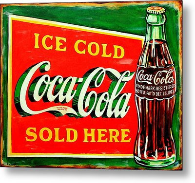 Vintage Coca-cola Sign Metal Print by Karl Wagner