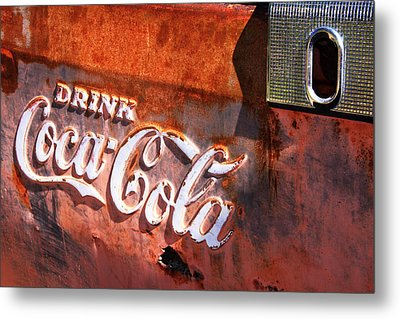 Metal Print featuring the photograph Vintage Coca Cola by Steven Bateson