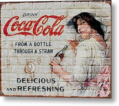 Vintage Coke Sign Metal Print by Jack Zulli