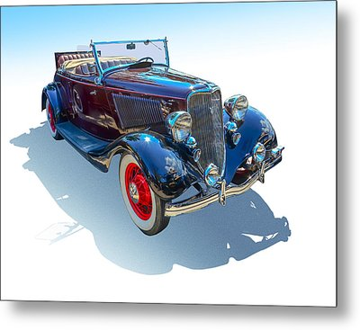 Metal Print featuring the photograph Vintage Convertible by Gianfranco Weiss