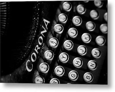 Vintage Corona Four Typewriter Metal Print by Jon Woodhams