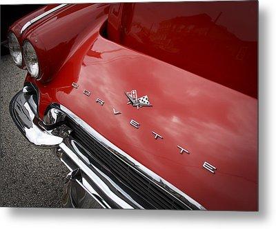 Vintage Corvette Metal Print by Patrice Zinck