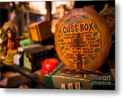 Vintage Cuss Box Metal Print by Amy Cicconi