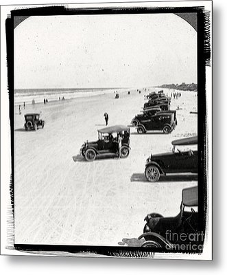 Vintage Daytona Beach Florida Metal Print by Edward Fielding