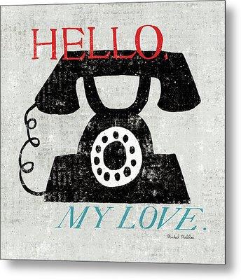 Vintage Desktop - Phone Metal Print