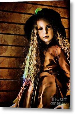 Vintage Doll Metal Print