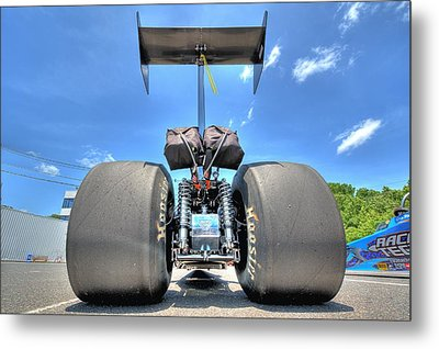 Metal Print featuring the photograph Vintage Drag Racer by Gianfranco Weiss