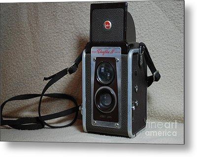 Vintage Duaflex Iv Camera Metal Print by Mark McReynolds