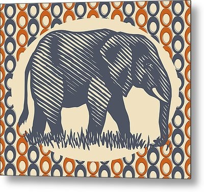 Gray Elephant Metal Print by Flo Karp