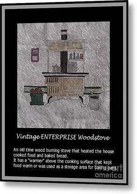 Vintage Enterprise Woodstove Metal Print by Barbara Griffin