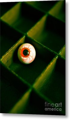 Vintage Fake Eyeball Metal Print