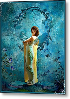 Metal Print featuring the mixed media Vintage Femme IIi by Mary Morawska