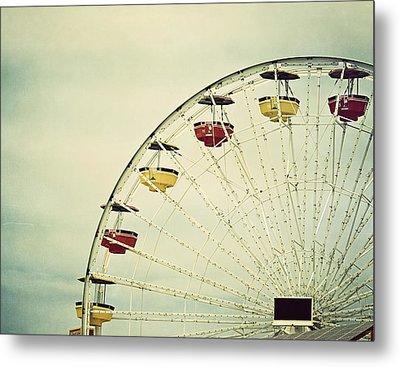 Vintage Ferris Wheel Metal Print by Kim Hojnacki
