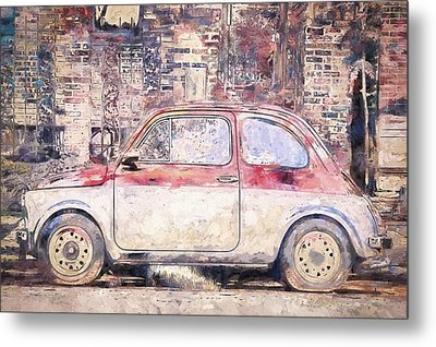 Vintage Fiat 500 Metal Print by Scott Norris