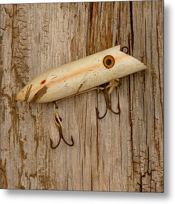 Vintage Fishing Lure Metal Print