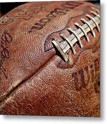 Vintage Football Metal Print by Art Block Collections