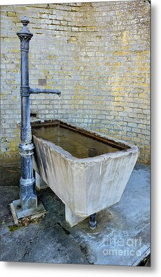 Vintage Fountain Metal Print by Felicia Tica
