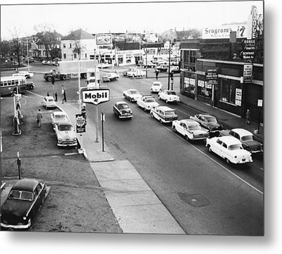 Vintage Gas Station Metal Print by Retro Images Archive