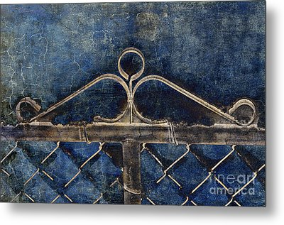 Vintage Gate - Fence - Chain Link - Texture - Abstract Metal Print by Andee Design