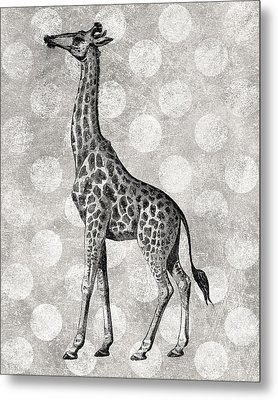 Gray Giraffe Metal Print by Flo Karp