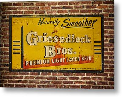 Vintage Griesedieck Bros Beer Dsc07192 Metal Print by Greg Kluempers