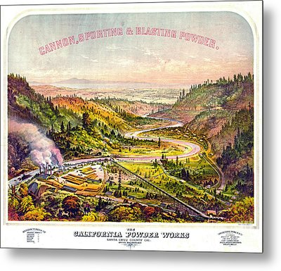 Vintage Gunpowder Ad 1864 Metal Print