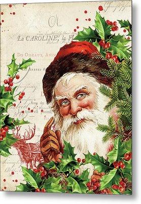 Vintage Holiday Iv Metal Print