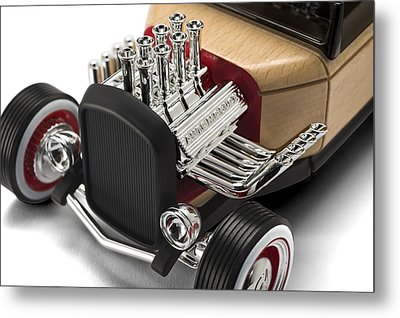 Metal Print featuring the photograph Vintage Hot Rod Engine by Gianfranco Weiss