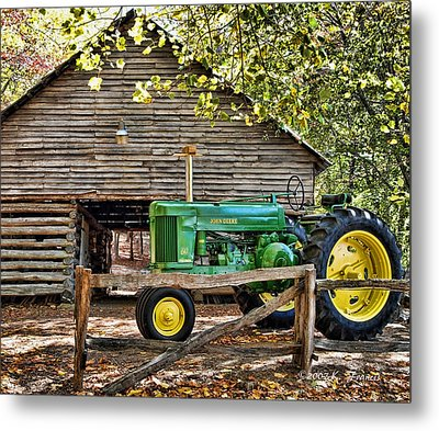 Vintage Metal Print by Kenny Francis
