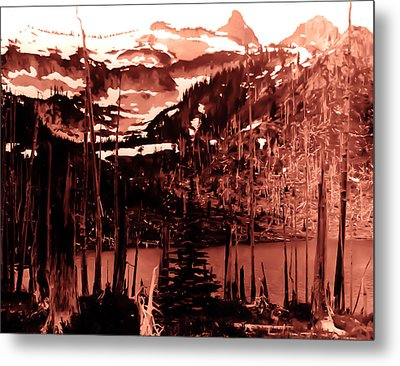 Metal Print featuring the photograph Vintage Lake Louise Early 1900 Era... by Eddie Eastwood