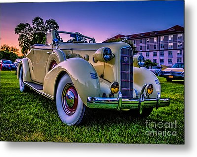 Vintage Lasalle Convertible Metal Print by Edward Fielding