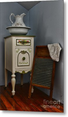 Vintage Laundry And Wash Room Metal Print