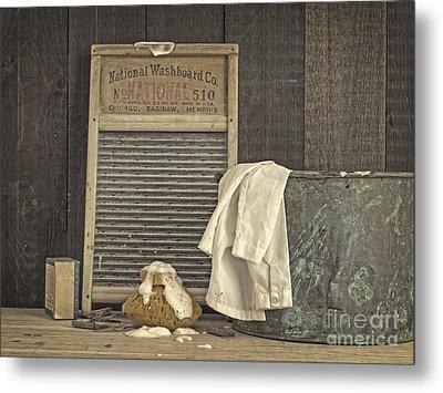 Vintage Laundry Room II By Edward M Fielding Metal Print by Edward Fielding