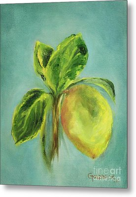 Vintage Lemon I Metal Print