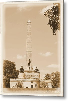 Vintage Lincoln's Tomb Metal Print by Luther Fine Art