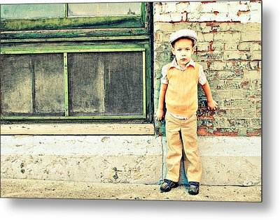 Vintage Little Boy Metal Print by Stephanie Grooms