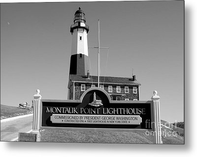 Vintage Looking Montauk Lighthouse Metal Print by John Telfer