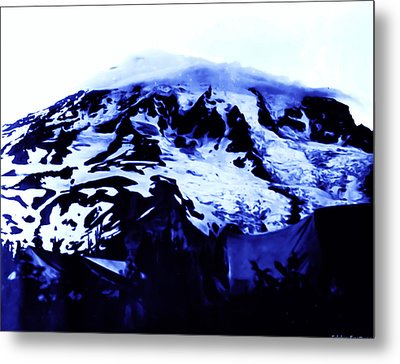 Metal Print featuring the photograph Vintage Mount Rainier At Twilight Early 1900 Era... by Eddie Eastwood