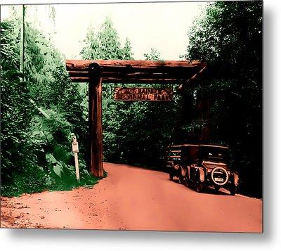 Vintage Mt.rainier National Park Entrance Early 1900 Era... Metal Print by Eddie Eastwood