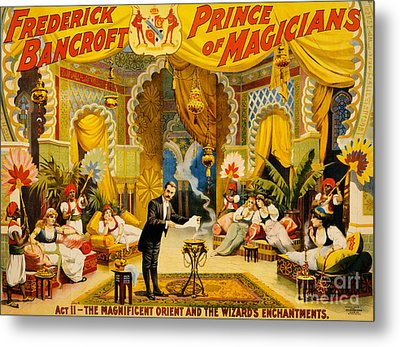 Vintage Nostalgic Poster - 8039 Metal Print by Wingsdomain Art and Photography
