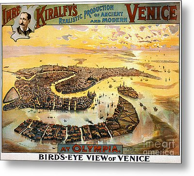 Vintage Nostalgic Poster - 8054 Metal Print by Wingsdomain Art and Photography