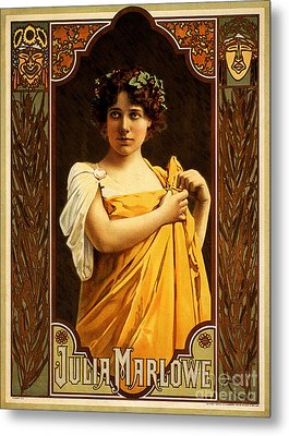 Vintage Nostalgic Poster - 8058 Metal Print by Wingsdomain Art and Photography