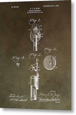 Vintage Ophthalmoscope Patent Metal Print